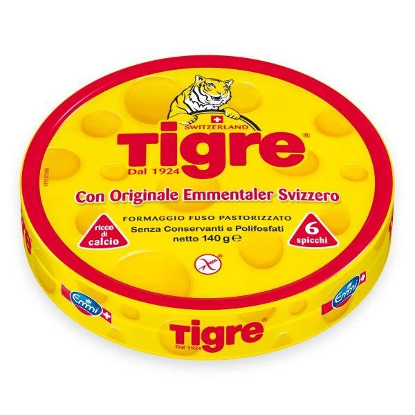 6 spicchi formaggio fuso pastorizzato emmentaler svizzero 140g Tigre