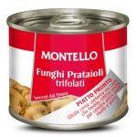 Funghi prataioli trifolati in olio di semi di girasole 180g Montello D'Amico