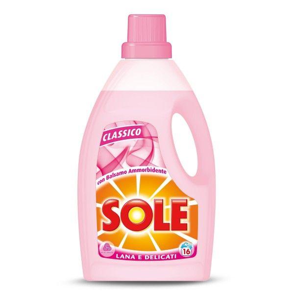 Detersivo liquido lana e delicati con balsamo ammorbidente 1L Sole