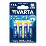 Pila ministilo High Energy AAA blister 4 pezzi Varta