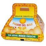 Uova confezione x 18 medie fresche cestino