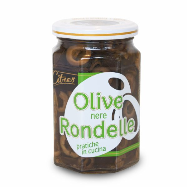 Olive nere a rondelle in salamoia 290g Citres