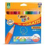 Matite colorate BIC kids evolution confezione 18+6gratis
