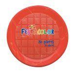 Piatti rotondi cm 21,5 rossi Festacolor 30 pezzi Bibo