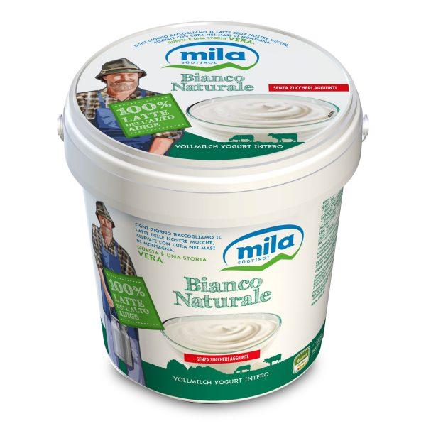 Yogurt intero bianco naturale 1kg Mila