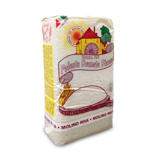 Farina per polenta bramata bianca sottovuoto 1Kg Molino Riva