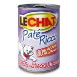 Patè ricco con orata e pesce Lechat per gatto 400g
