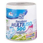 Rotolone Multiuso assorbitutto 500 strappi 2 veli Noi&Voi