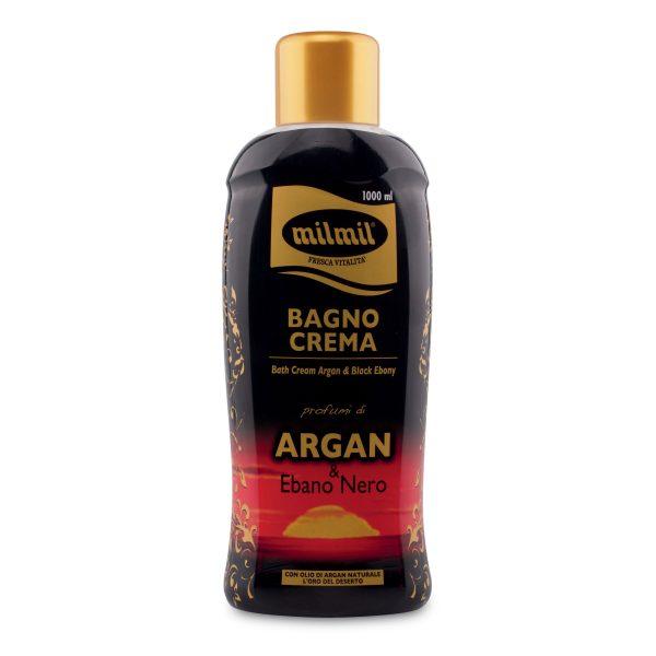 Bagno crema argan e ebano nero 1l Mil Mil