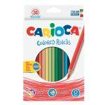 36 matite colorate Carioca