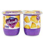 Yogurt Vitasnella Zero grassi Ananas in pezzi 2x125g Danone