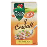 Riso 3 cereali riso, farro e orzo 800g Gallo