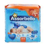 Pannolini dry fit midi 4-9Kg 20 pezzi Assorbello Up