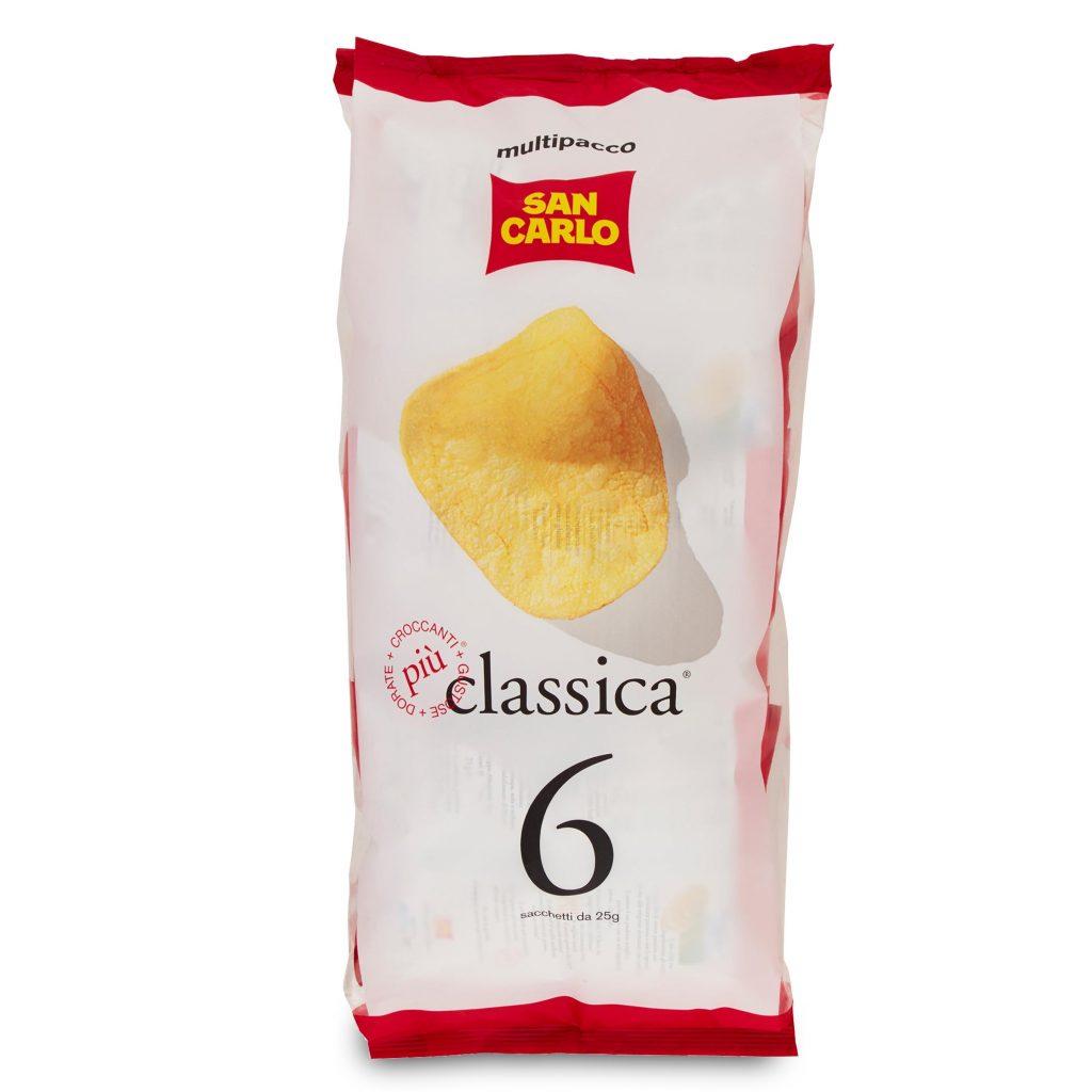 Patatina multipack classica 6x25g San Carlo - D'Ambros ...