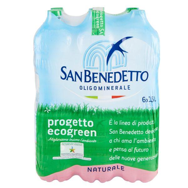 Acqua San Benedetto Ecogreen naturale 1,5lx6