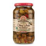 Olive verdi schiacciate con nocciolo in olio di semi di girasole 950g Delizie di Calabria