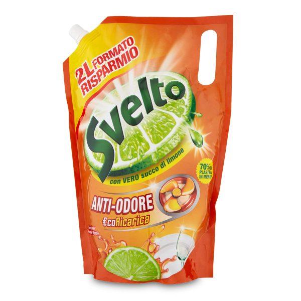 Detergente piatti Eco-ricarica all'aceto e limone verde 2L Svelto