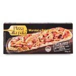 Pizza alla pala wurstel di pollo e tacchino e patatine 240g Svila