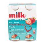 Milk fragola confezione da 4 bottigliette 400g aiuta a  ridurre il colesterolo