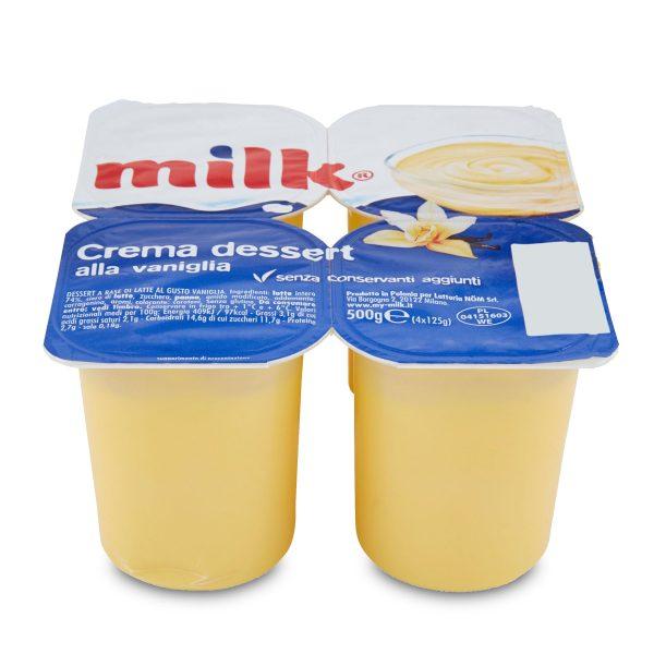 Crema Dessert alla vaniglia 4x125g Milk