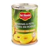 Ananas a fette in succo senza aggiunta di zucchero 350g Del Monte
