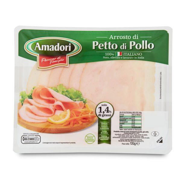 Arrosto petto di pollo 120g Amadori