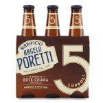 Birra bock chiara 5 luppoli doppio malto 3x33cl Angelo Poretti