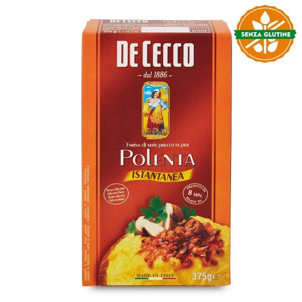 Polenta farina di mais precotta istantanea senza glutine 375g De Cecco