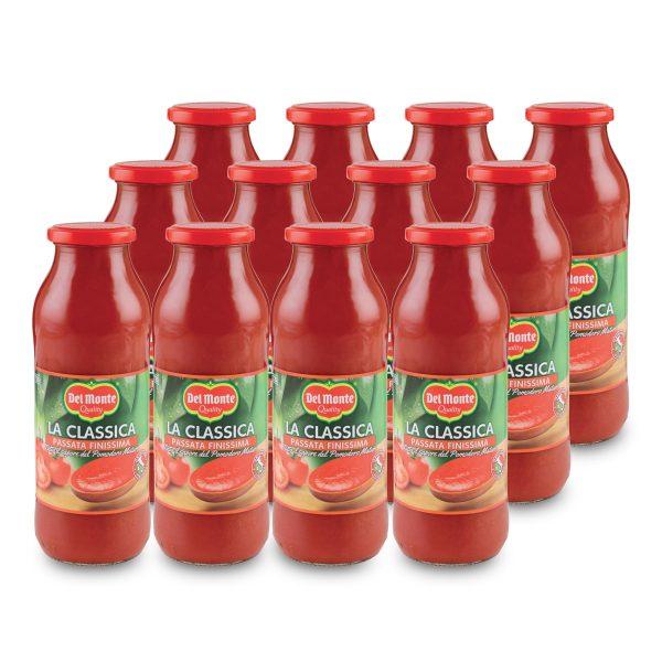 Passata di pomodoro 12 bottiglie da 690g Del Monte