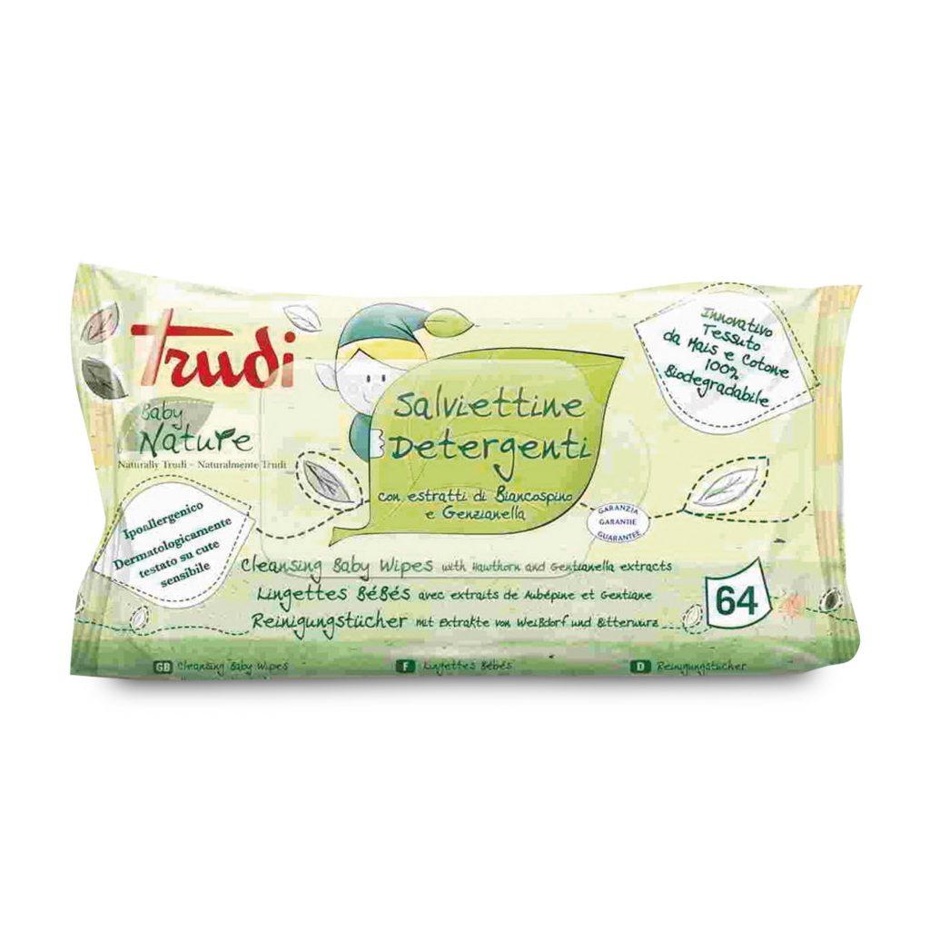 Salviettine detergenti 64 pezzi trudi baby Nature - D'Ambros Ipermercato