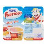 Fruttolo maxiduo fragola e pesca 4x100g Nestlé