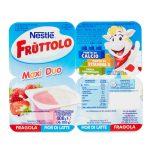 Fruttolo maxiduo fragola e fiordilatte 4x100g Nestlé
