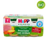 Omogeneizzato bio prosciutto cotto e verdure 2x80g Hipp