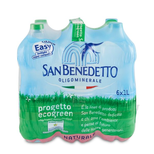 Acqua San Benedetto progetto ecogreen 6x1L
