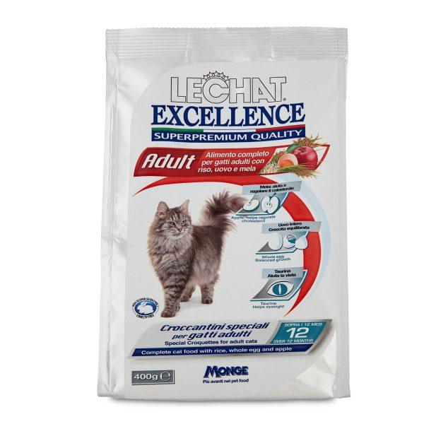 Croccantini Lechat excellence per gatto adulto 400g Monge