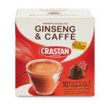 10 capsule caffè&ginseng senza zucchero 90g Crastan