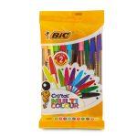 10 Penne Cristal Multicolor Bic