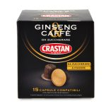 15 capsule ginseng/caffè senza zucchero 50g Crastan