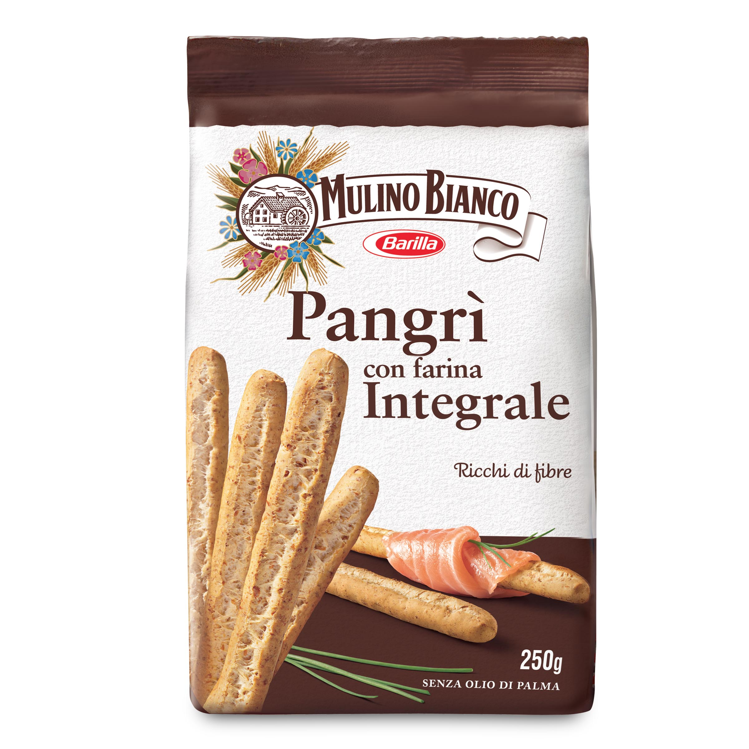 Ricetta Per Grissini Integrali Rustici.Pangri Con Farina Integrale 250g Mulino Bianco D Ambros Ipermercato