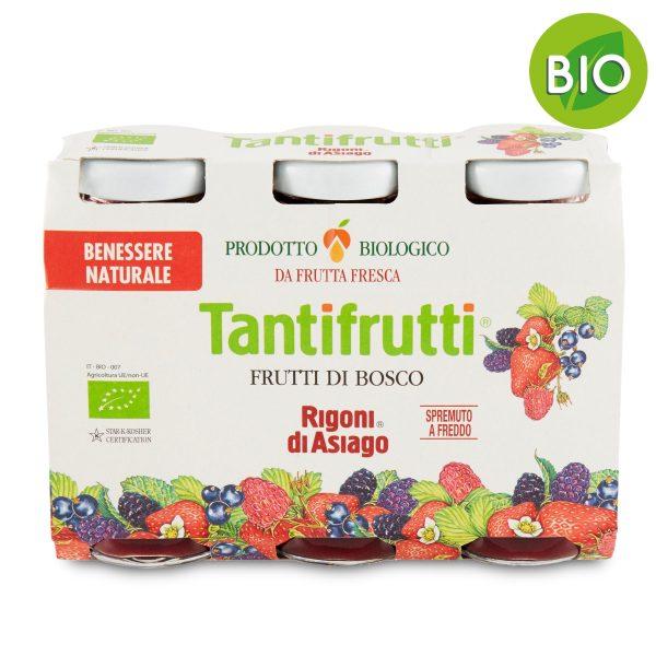 Spremuta frutti di bosco bio Tantifrutti 3x125ml Rigoni di Asiago