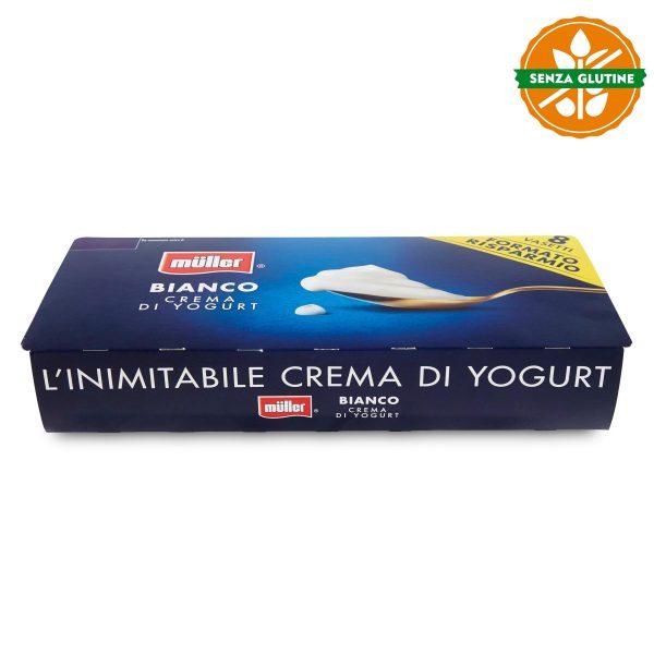 Yogurt Bianco cremoso senza glutine 8x125g Muller