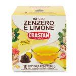 10 capsule per infuso zenzero e limone compatibili Dolce gusto 25g Crastan