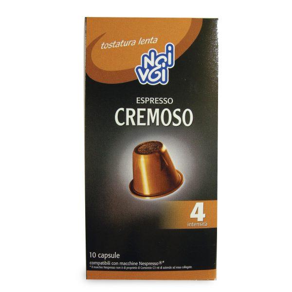 Caffè gusto cremoso 50g Noi&Voi confezione 10 capsule compatibili con macchine Nespresso