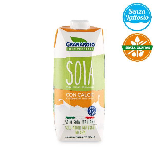 Bevanda di soia UHT con calcio 100% vegetale senza lattosio e senza glutine 500ml Granarolo