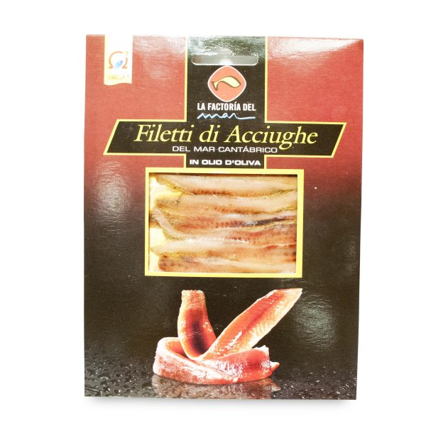 Filetti di acciughe del cantabrico olio d'oliva 80g