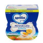 Merenda latte e albicocca 2x100g Mellin
