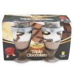 Gelato triplo cioccolato in bicchiere 2x90g Mancuso