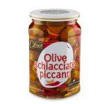 Olive verdi schiacciate piccanti in olio di girasole 520g Citres
