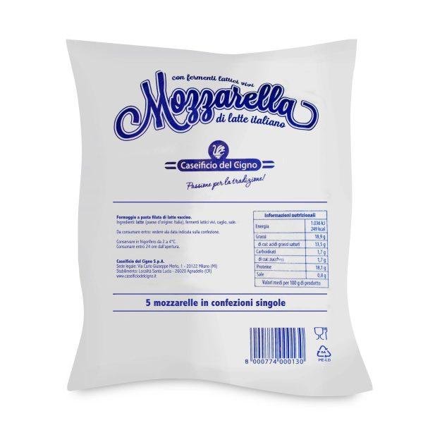 Mozzarella busta 100gx5 Cigno