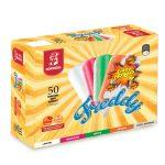 50 Ghiaccioli assortiti con succo di frutta senza coloranti artificiali 3,5kg Freddy